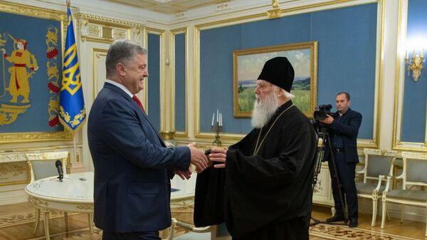 Президент Украины Петр Порошенко и патриарх Филарет