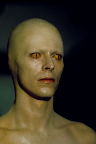 Стив Шапиро. Дэвид Боуи с кошачьими глазами. Человек, который упал на Землю. Нью-Мексико, 1975