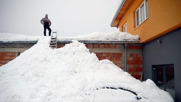 Последствия снегопада в Австрии. 9 января 2018