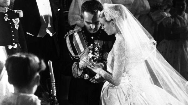 Свадьба Грейс Келли и князя Монако Ренье III. 19 апреля 1956