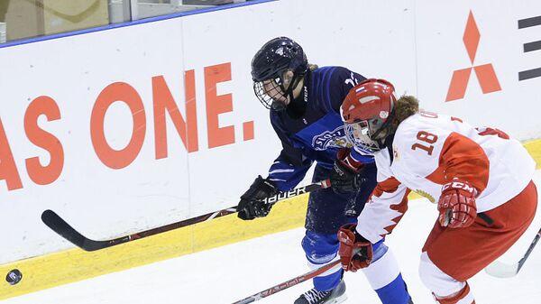 Матч женского молодёжного чемпионата мира Россия - Финляндия