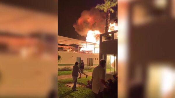 Взрыв газа в клубе Лас-Пальмас на пляже Азия в Перу