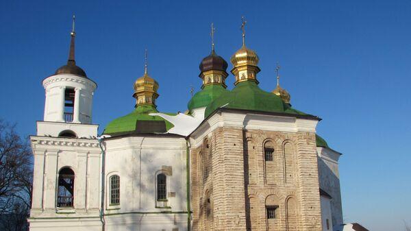 Церковь Спаса на Берестове, где похоронен князь Юрий Долгорукий, в Киеве, Украина
