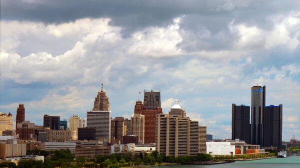 Вид на Детройт, штат Мичиган, США