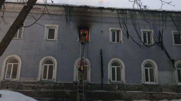 Ликвидация пожара на территории Киево-Печерской лавры. 14 января 2019