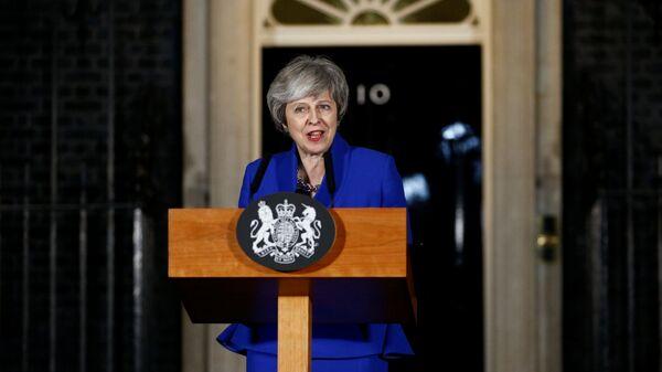 Премьер-министр Великобритании Тереза Мэй во время обращения к нации. 16 января 2019