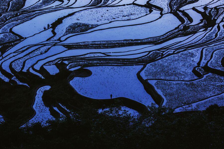 Китай, Рисовые поля рисовые поля в провинции Юньнань