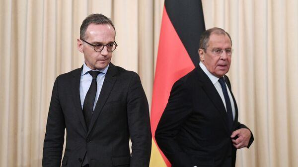 Министр иностранных дел РФ Сергей Лавров и министр иностранных дел ФРГ Хайко Маас