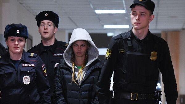 Анастасия Вашукевич (Настя Рыбка) на заседании Нагатинского суда. 19 января 2019