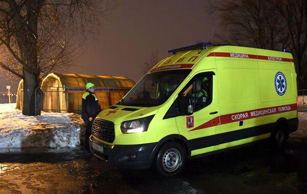 Работа Московской городской спасательной службы во время крещенских купаний