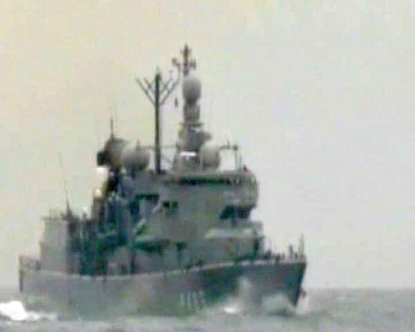 Неустаршимый дал первый бой сомалийским пиратам