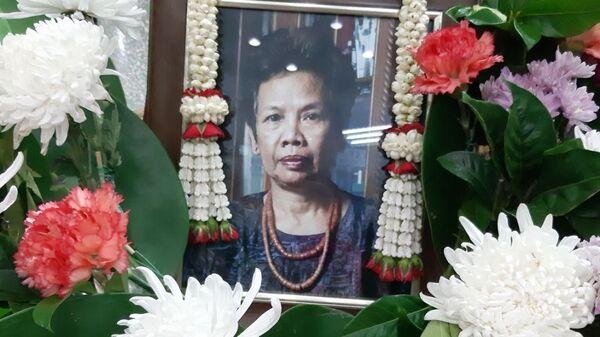 Фотография Чыачан Тхапаносот, выставленное в траурном зале