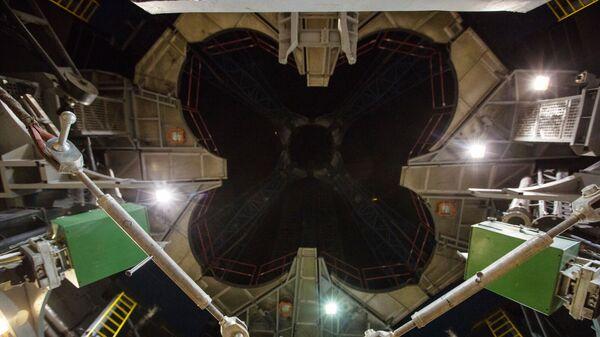 Вид на огневое кольцо стартового стола космодрома Восточный