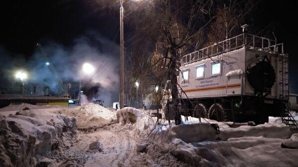 Порыв на трубопроводе в Самаре. 24 января 2019