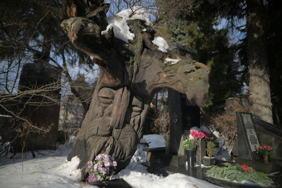 Деревянный памятник Александру Птушко
