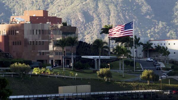 Территория посольства США в Каракасе