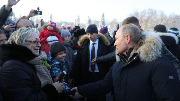Владимир Путин общается с жителями Санкт-Петербурга. 27 января 2019