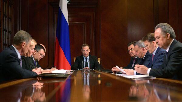 Дмитрий Медведев проводит заседание президиума Совета при президенте РФ по стратегическому развитию и национальным проектам. 28 января 2019