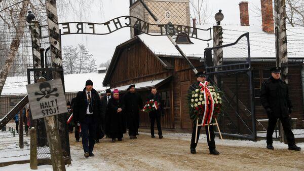 Памятные мероприятия в лагере Аушвиц-Биркенау в польском Освенциме