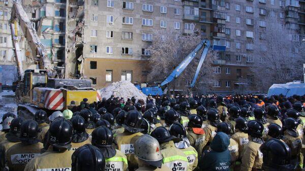 Обрушение одного из подъездов жилого дома на проспекте Карла Маркса в Магнитогорске