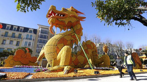Фестиваль лимонов в Ментоне, Франция