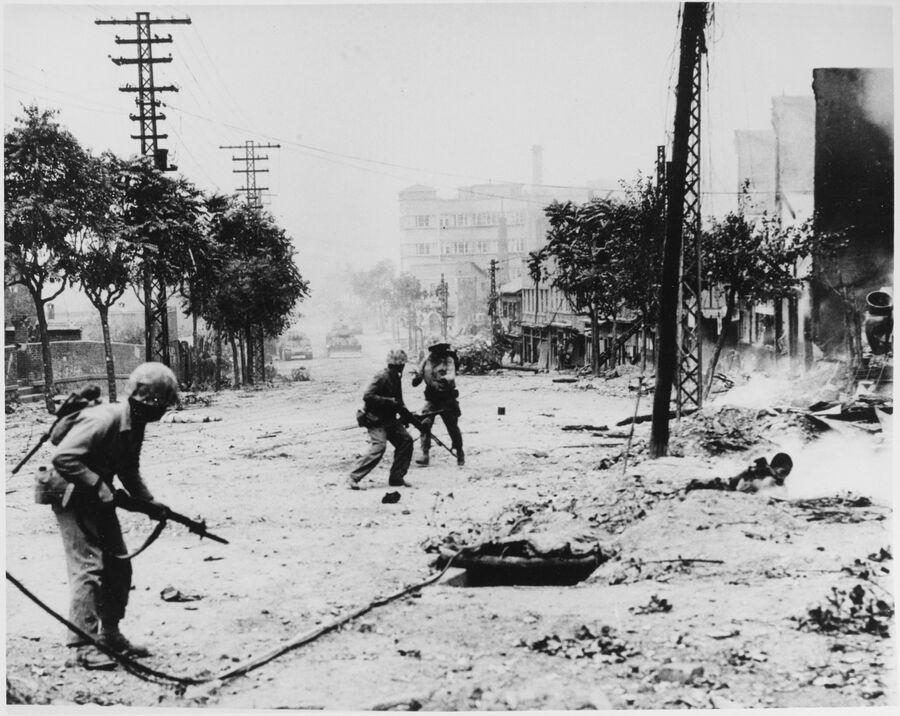 Бой на улицах Сеула. Сентябрь 1950 года