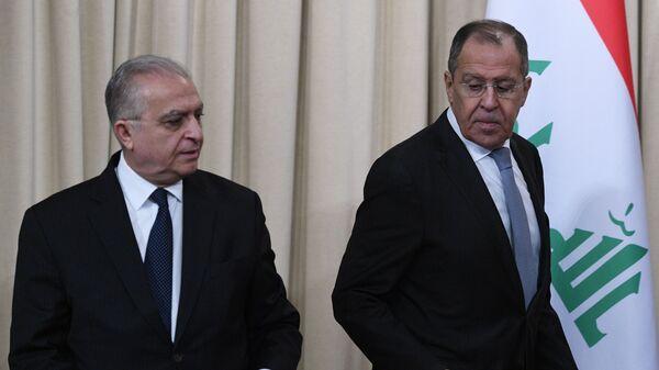 Министр иностранных дел РФ Сергей Лавров и министр иностранных дел Ирака Мухаммед Али аль-Хаким во время встречи в Москве. 30 января 2019
