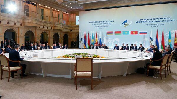 Заседание в расширенном составе Евразийского межправительственного совета в Алма-Ате