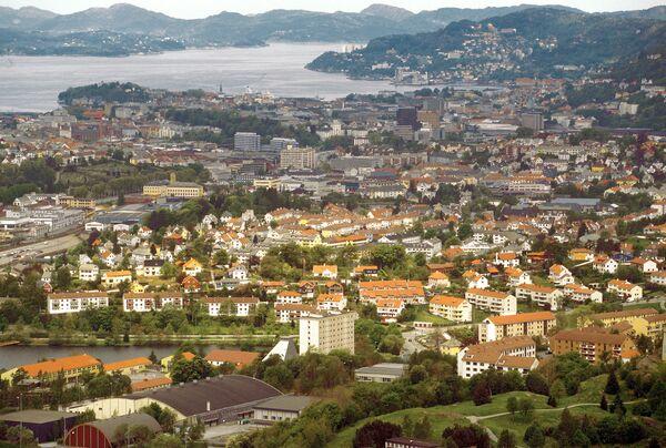 Панорама Бергена - второго по величине города Норвегии