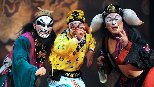 Сцена из спектакля  китайской оперы