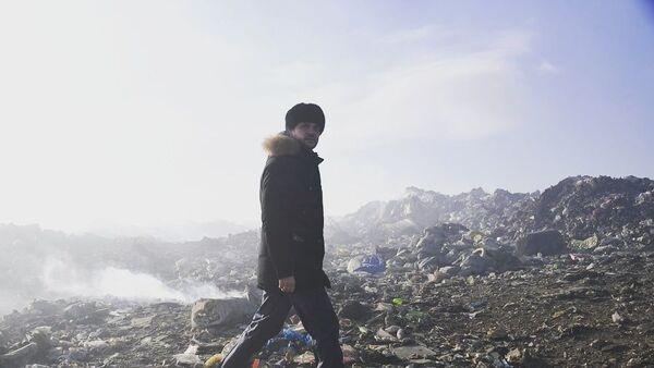 Возгорание мусора на полигоне твёрдых бытовых отходов в посёлке Ивановка