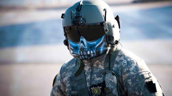 Американский военный во время учений