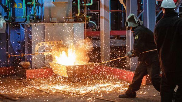 Запуск первой металлургической печи для переработки техногенных отходов