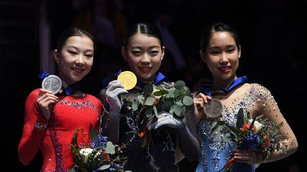 Элизабет Турсынбаева, Рика Кихира и Маи Михара (слева направо)