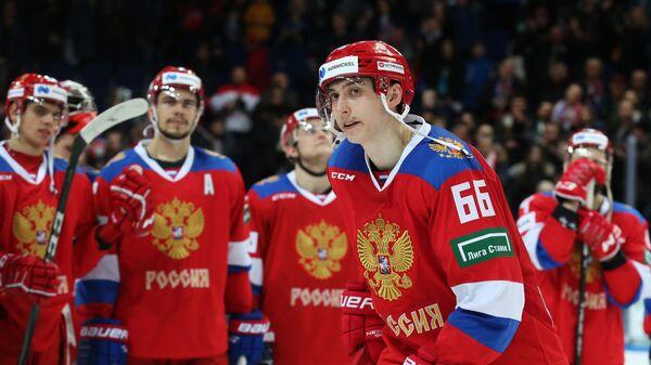 Форвард сборной России Илья Михеев