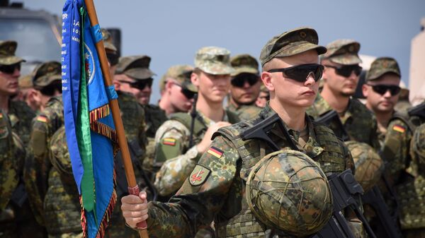 Военнослужащие армии Германии на учениях НАТО