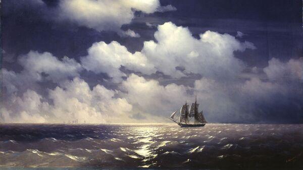 Картина Ивана Айвазовского Бриг Меркурий после победы над двумя турецкими кораблями. 1848 год