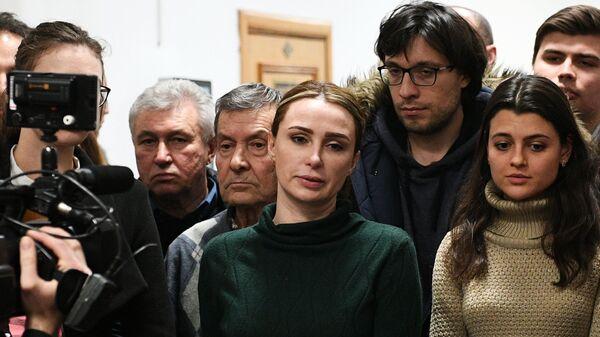 Супруга бывшего главы Серпуховского района Подмосковья Александра Шестуна Юлия в здании Басманного суда
