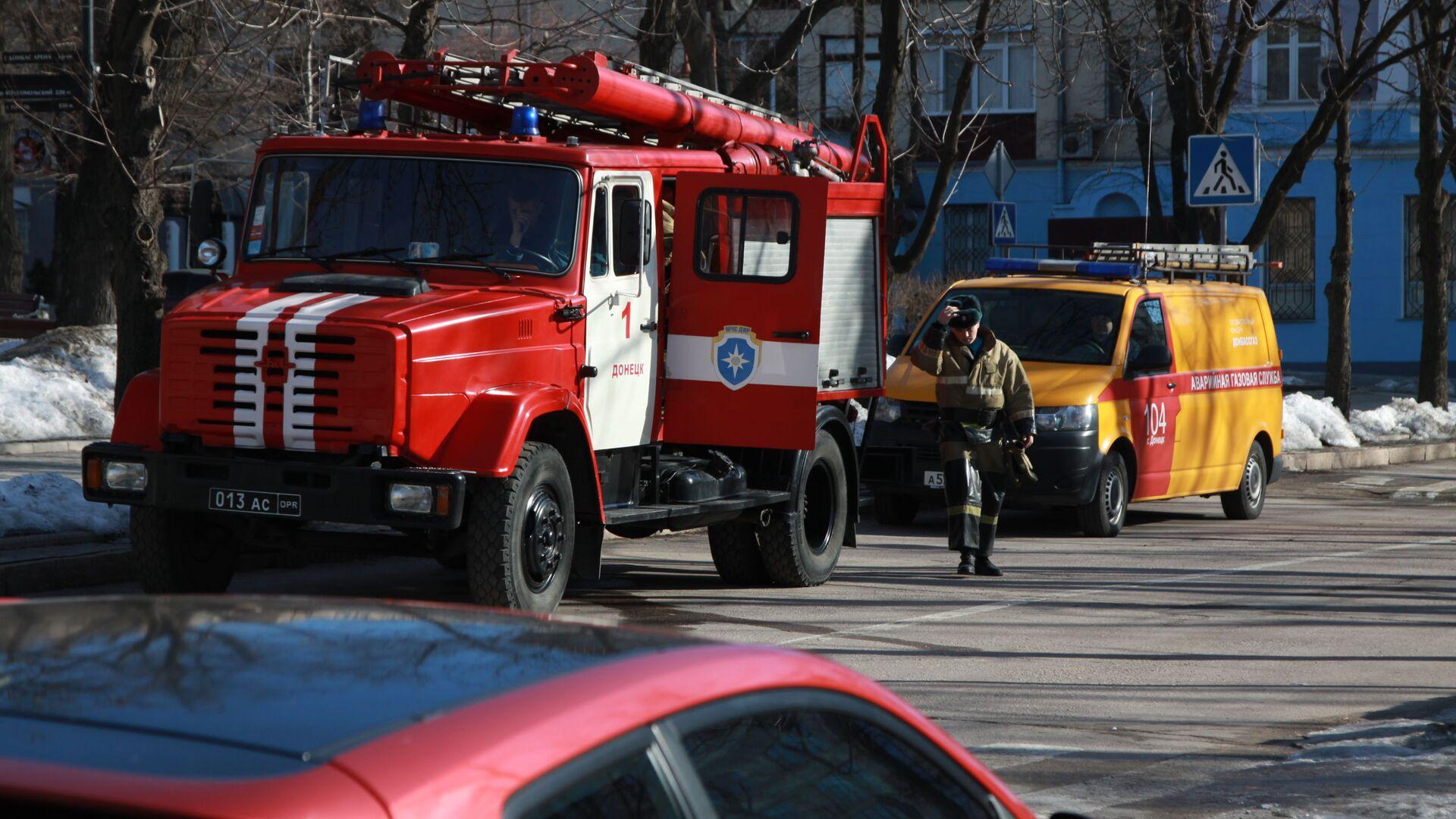 В центре Донецка прогремели три взрыва - РИА Новости, 1920, 02.12.2020