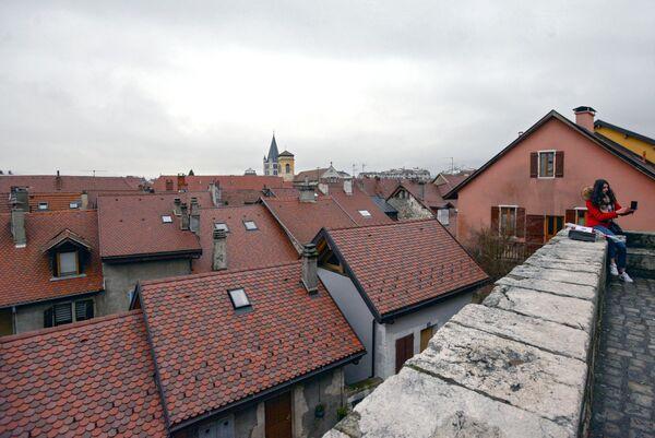 Крыши старого города в Анси