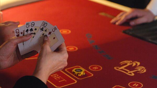 Игровой стол в казино Оракул, расположенном в игорной зоне Азов-Сити на границе Краснодарского края и Ростовской области