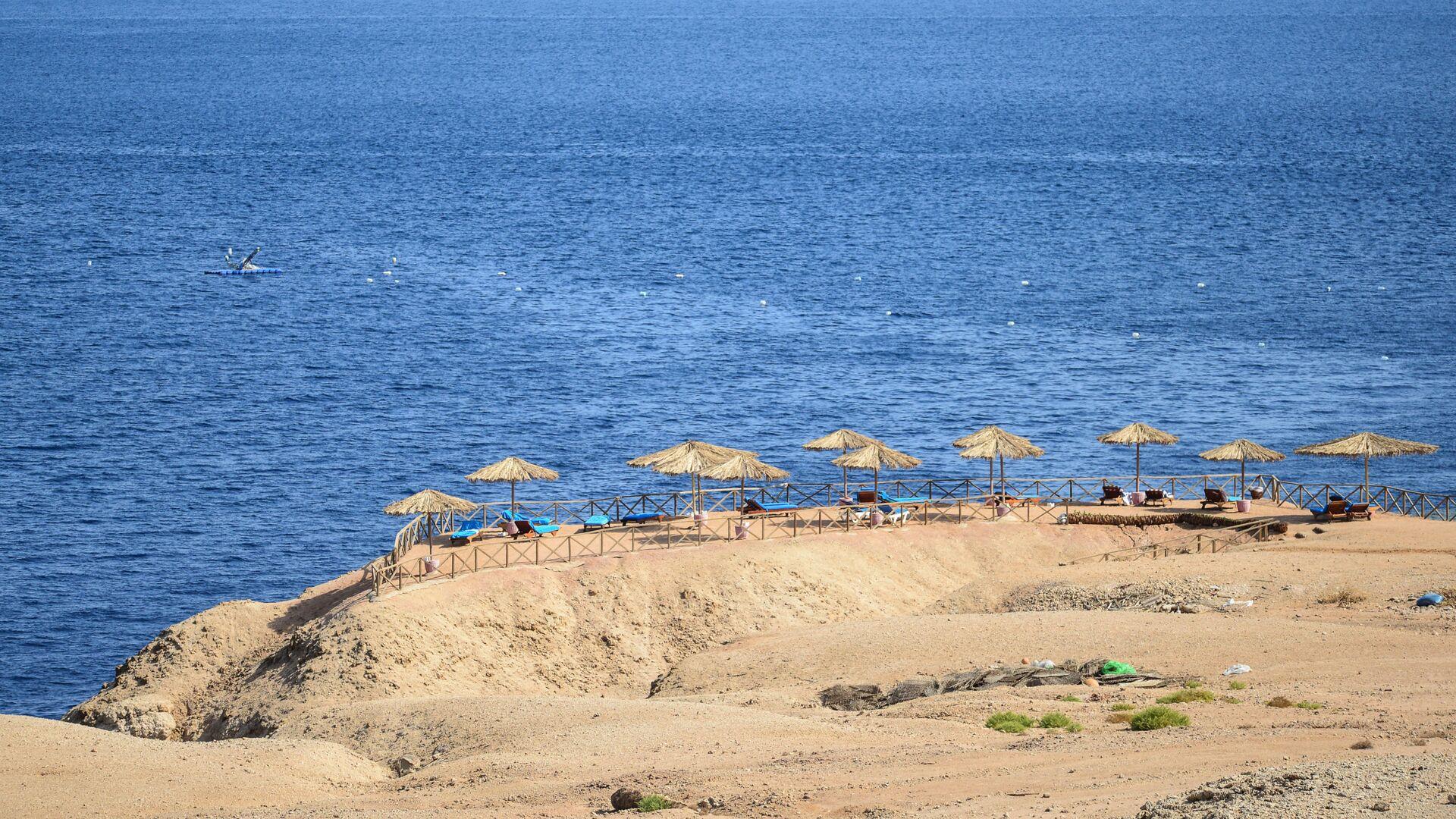 Вид на пляж в Шарм-эль-Шейхе - РИА Новости, 1920, 11.07.2020