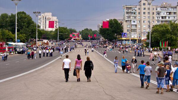Празднование дня независимости ПМР на Площади Суворова