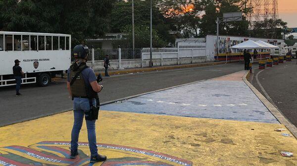 Ситуация у моста Симона Боливара на границе между Венесуэлой и Колумбией