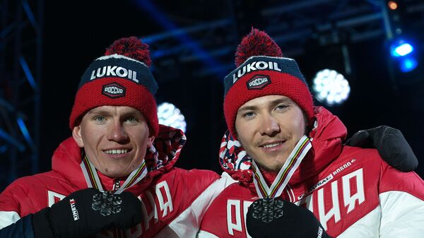Глеб Ретивых (справа) и Александр Большунов