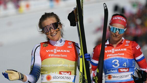 Стина Нильссон и Наталья Непряева (слева направо)