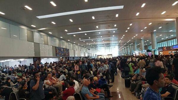 Зал ожидания аэропорта Даболим в Гоа, Индия