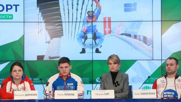 Виктория Демченко, Роман Репилов, Наталия Гарт и Семен Павличенко (слева направо)
