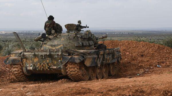 Военнослужащие сирийской армии в районе Алеппо