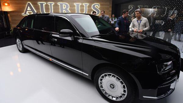 Автомобиль Aurus на Женевском автосалоне